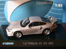 PORSCHE 911 996 GT2 2000 SILVER KDW 711 COLLECTION 1/43 SILBER SILVER ARGENTE
