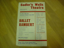 BALLET  Rambert  Various Shows  1961 SADLER's WELLS Original Theatre Poster