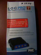 PAC LOC PRO 7 LP7-4 4 CHANNEL HIGH POWER LINE OUTPUT CONVERTER AMP STEREO