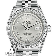 Rolex 36mm Datejust Silver diamond string dial Jubilee Bracelet custom diamonds