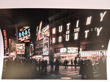 1963 Castro Convertibles Neon Times Square New York City Color Photo 8 x 10