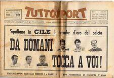 rivista TUTTOSPORT - 29/05/1962 N. 148 ITALIA-GERMANIA
