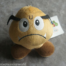 Super Mario Goomba Stuffed Animal Plush Doll Soft Toy Collectible Keychain New