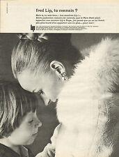 Publicité Advertising 1965  Montre  fred Lip ..