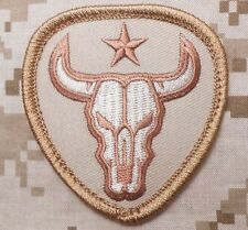 BULL SKULL TEXAS STAR US ARMY MILITARY TACTICAL US ISAF DESERT HOOK PATCH