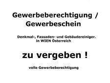 Gewerbeschein für Gebäudereiniger Wien, als Gewerberechtlicher Geschäftsführer.