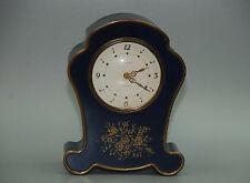 VTG SEMCA Blue 7 Jewels Swiss Made Small Mantle Clock Running Alarm Not Working