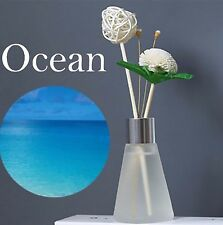 Aromatherapy Reed Diffuser Frosted glass Home Decor Air Freshener: Ocean scent