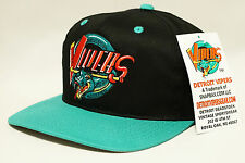Detroit Vipers Black Teal Youngan Snapback Hat Cap Red Wings IHL Howe Pistons