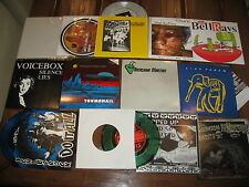 "13 Punk Record Lot 90s 7"" Garage UK Rock Hard Metal Indie Private San Diego NM"