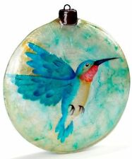 HUMMINGBIRD ~ CAPIZ SHELL ORNAMENT          1600K*