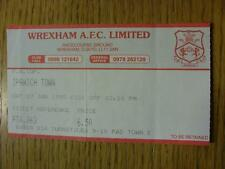 07/01/1995 Ticket: Wrexham v Ipswich Town [FA Cup] (Slight Fold)