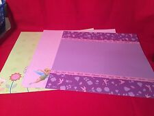 "Scrapbook Paper Disney Tinker Bell 12 x12 "" 6 Sheets Paper Crafting Pages"