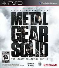 Metal Gear Solid: The Legacy Collection No Artbook PS3 New PlayStation 3, Playst