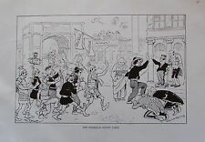 Theo Zasche DER MUSSOLINI KOMMT Karikatur um 1924 Wien Druck print