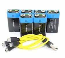 6pc 9V 3600mwh lithium li-po rechargeable ,Walkie-talkie USB battery + USB charg
