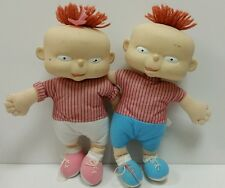 """Vintage 12"""" Phil and Lil Baby Twins Rugrats Plush Doll By Mattel 1998 Viacom"""
