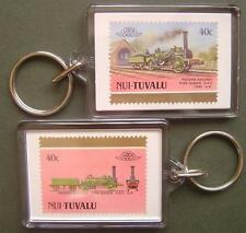 1848 Padarn Railway FIRE QUEEN 0-4-0 Train Stamp Keyring (Loco 100)