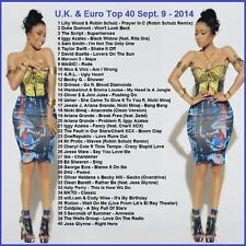 Promo Video DVD, UK & Euro Top 40 Hits, Sept 2014! Dance/Pop Videos Only on Ebay