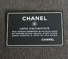 Chanel Authenticity Card with Hologram and Serial number