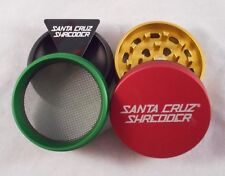 "Medium 2.2"" Matte Rasta 4 Piece SANTA CRUZ SHREDDER Grinder"