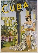 CUBA - HOLIDAY ISLE VINTAGE TRAVEL POSTER 24x36 - TROPICS 36094