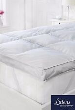 "LUXURY SUPERKING BED GOOSE FEATHER & DOWN MATTRESS TOPPER, 2"", 50MM, NATURAL"