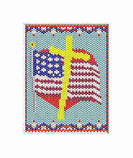 One Nation Under God~Pony Bead Banner Pattern Only
