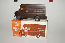 VINTAGE PLASTIC FRICTION UPS PACKAGE CAR, P-600 REPLICA, CIRCA 1977, CHINA BOXED