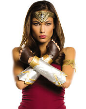 Adult Wonder Woman Gauntlets And Arm Band With Tiara Costume Kit