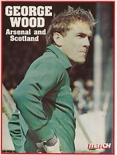 GEORGE WOOD ARSENAL 1980-1983 ORIGINAL HAND SIGNED MAGAZINE PICTURE CUTTING