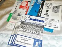 CHELSEA HOME AND AWAY PROGRAMMES FROM 1968/9 - SELECT FROM LIST