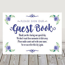 Navy Blue Wedding Guest Book Table Sign Poem for Wishing Tree or Well 3FOR2 (N1)