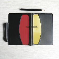 1 Pcs Soccer Referee Wallet Red Card Yellow Card Tape Folded Pencil Log Book