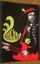 Vintage Jimi Hendrix Black Light Poster Pin-Up Are You Experienced Pro Arts 1969