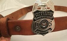 Fugitive Recovery Agent Badge Money Belt Clip 2.75 Inch Silver Plating