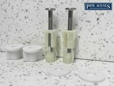 Blind DIY Toilet Seat Hinge Fixings Pair Top Fix Fitting Plastic Back To Wall