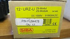 Box Of 12 SIBA 1000 Volt DC Touch Safe Fuse Holder Din Rail NEW