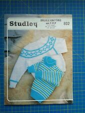 Studley Child's Sweaters Knitting Pattern 802