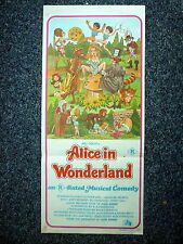 ALICE IN WONDERLAND Adult Fantasy Original 1970s DB Movie Poster Kristine DeBell