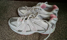 Ladies White / Pink Trainers by Clarks size 5D