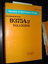 Komatsu D375A-2 OPERATION MAINTENANCE MANUAL BULLDOZER DOZER OPERATOR GUIDE BOOK