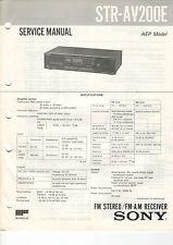 SONY - STR AV200E AV210/AV310 AV220 AV320 AV300E - 4x Service Manual - B2379