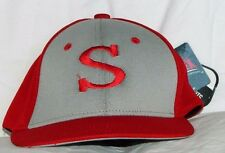 """NWT Men's Fitted Hat """"S"""" Gray and Red OC Sports ECO3 Quick Cool Wick Dry PROFLEX"""