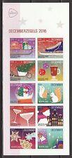 Nederland 2016 vel Decemberzegels - kerstzegels AH-versie - ZEER LASTIG