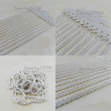 12Pcs Wholesale New twining SILVER PLATING CHAIN NECKLACE 45CM