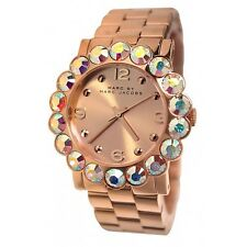* Nuevo * MARC BY MARC JACOBS Ladies Watch MBM3223 Oro Rosa-Amy Glitz Holográfico