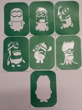 Pack of 7 Minions-1 Glass etching Stencil