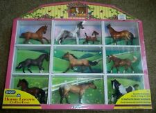 Breyer HORSE LOVERS Collection #5412~10 Stablemate Horses, Foal~Display Case~NEW