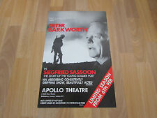 Peter BARKWORTH in SIEGFRIED Sassoon Young Soldier Poet APOLLO Theatre Poster